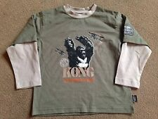 BNWT NEXT Khaki Long Sleeved Mock Layer KONG Top 4 Years 104cm