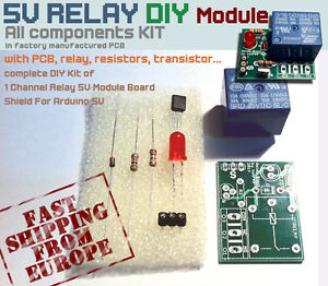 Arduino Relay 5V Module DIY with new PCB to build it - Songle Relay - 1 Channel