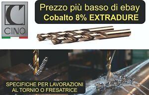 Co5 Cobalto Trapano HSS Punta Elicoidale Acciaio Inox in Metallo ⌀ 1-20 mm