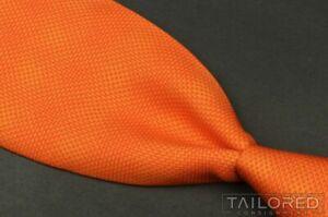 """HERMES 5222 IA Solid Orange Gradient 100% Silk Mens Luxury Tie - 3.75"""""""