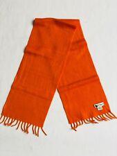 Kids Colombo Orange 100% Cashmere Scarf with Tassels - Unisex