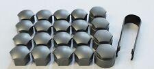 GENUINE AUDI A1 A3 A4 A5 A6 A7 Q3 17mm WHEEL NUT BOLT COVERS LOCKING CAP SET NEW