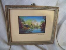 Antique SIGNED WALLACE NUTTING FRAMED PRINT STREAM SCENE