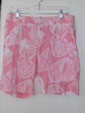 "Lilly Pulitzer Women SZ 8 Shorts Pink Shells Seashells Bermuda 9"" Inseam"