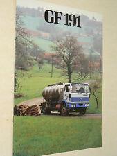 Prospectus  Camion RENAULT  GF 191   1981    RVI     brochure catalogue
