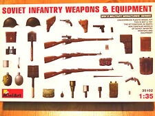 Miniart 1:35 Soviet Infantry Weapons & Equipment WW II Era Model Kit