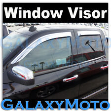 14-15 Chevy Silverado 1500 Double Cab Window Visor Chrome Shade Wind Deflectors