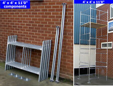 """DIY Scaffold Tower & Boards 5.2m (4' x 4' x 17'0"""" WH) Galvanised Steel"""
