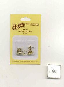 Butt Hinge 1122 miniature dollhouse hardware 4pcs Houseworks 1/12 scale