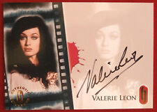 HAMMER HORROR - VALERIE LEON, Autograph Card HA2 - Series 1 - Strictly Ink 2007