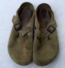 Birkenstock Women's Brown Suede Leather Slip-On Clogs Sandals 39 250 L8 M6