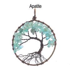 Apatit Baum des Lebens Natürlich Anhänger Liebhaber Halskette Handgefertigt