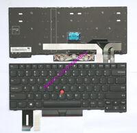 Original New IBM Thinkpad E490 E495 L480 L490 laptop black keyboard Non-backlit