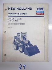 Ford New Holland L-454 L-455 Skid Steer Loader Operator'S Manual 1/93