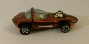 1968 Hot Wheels Orange Silhouette RSW Tires Original 16