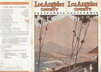 LOS ANGELES COUNTY  Rare 1933 Travel Brochure 12 panels many photos