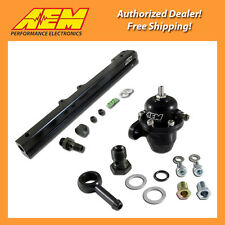 AEM High Volume Fuel Rail & Adj Pressure Regulator for 92-01 Honda Prelude 2 Set
