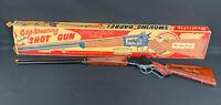 "RARE Marx ""The Lone Ranger"" Repeating Steel Shotgun Toy Gun Smoking Barrel W/Box"