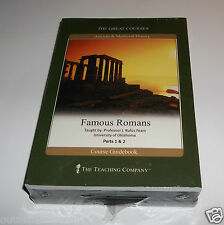 The Great Courses Ancient & Medieval History Famous Romans - DVD & Guidebook NEW