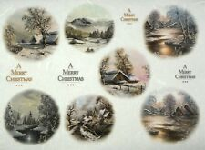 Rice paper -Christmas Night Village- for Decoupage Scrapbooking Sheet