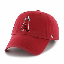 Anaheim Angels 47 Brand Clean Up Adjustable Field Classic Red Hat Cap MLB