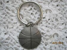 Key Chain Basketball Silver Tone