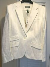 Ralph Lauren LINEN  jacket blazer pearl size 16 New with tags