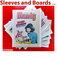 New Mandy Comic Bags and Boards Acid Free Reseal / Tape TALL Size4 A4+ x 25