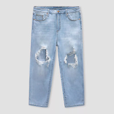 WOMEN'S HIGH-RISE VINTAGE STRAIGHT CROPPED JEANS- UNIVERSAL THREAD SUPER LIGHT 1