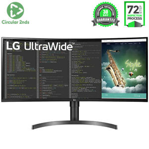"LG 35"" QHD CURVED ULTRAWIDE IPS 100HZ LED HDR MONITOR DISPLAY FREESYNC DESKTOP"