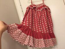 $185 NWT Ralph Lauren Summer Dress Size 6 Cotton Girl Summer ~Gorgeous detail