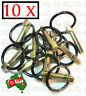 """10 X Heavy Duty 11 mm 7/16"""" Lynch Linch Pin Locking Tractor Implement Trailer"""