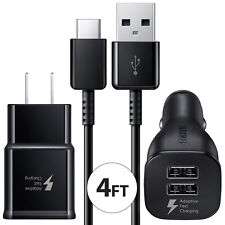 Samsung Galaxy S10 S9 S8 Note9 8 Fast Charge Usb Type C Wall Charger Car Adapter