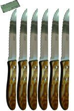 Cuchillos de mesa Celaya Plástico Nácar Marrón Sierra Lote 6 Uds.