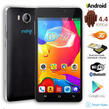 "V10 Unlocked Duo Core 5.0"" Android 4.4 Duo Sim 3G Smart Phone AT&T Straight talk"