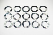 Lot of 15 Spring Washers 14mm ID 21mm OD 0.3mm Thick Black Metal Wave Crinkle