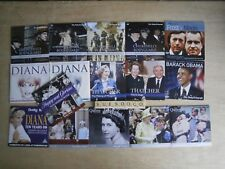 BUNDLE OF 16 PROMO DVDS - THATCHER CHURCHILL OBAMA FROST NIXON THE QUEEN DIANA