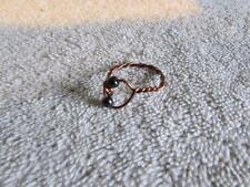 """/ Magnetic Beads Size 9"""" Handmade Copper Wire Wrapped Ring W"""