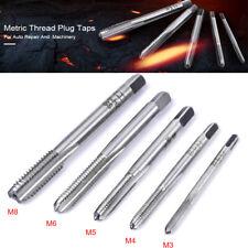 5pcs HSS Machine Screw Thread Metric Straight Plug Tap Set Tool M3-m8 AU Stock