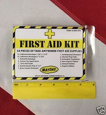 54 pc first aid kit bug out bag survival preparadness tactical disaster Mayday