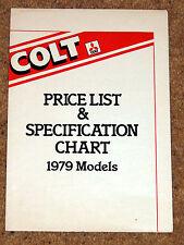 1979 (Mitsubishi) COLT RANGE Price List -Sapporo Celeste Sigma Lancer 1400 L200