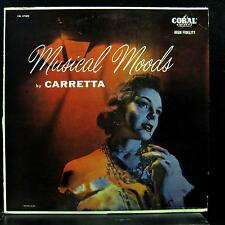 Carretta - Musical Moods LP VG CRL 57002 Coral Mono 1st Vinyl 1955 Record