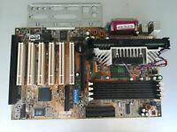 Scheda Madre Asus P3B-F e Cpu Intel Pentium 3 450Mhz Slot 1 SL35D con 1 Slot Isa