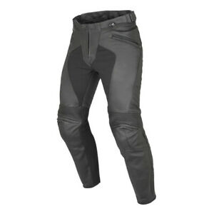Dainese Pony C2 Leather Motorbike Motorcycle Trousers Black SALE