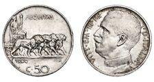 ITALIA Vittorio Emanuele III 50 Centesimi 1920 Leoni - Contorno liscio