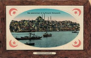 Turkey Constantinople Istanbul Panoramic view and the Suleymaniye Mosque 04.97