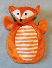 Boppy Orange Felix Fox Security Blanket White Stripe Crinkle Sound Baby Lovey