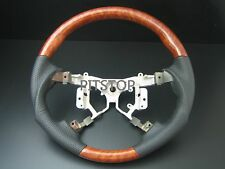 Toyota CAMRY AURION 2006-2011 wood genuine leather steering wheel- sports