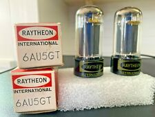 Matched Pair NOS Raytheon 6AU5GT Vacuum Tubes Hickok 600A Tested - NOS/NIB