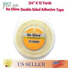 """WALKER TAPE 3/4"""" X 12 Yards No Shine Double Sided Adhesive Tape Hair System Tape"""